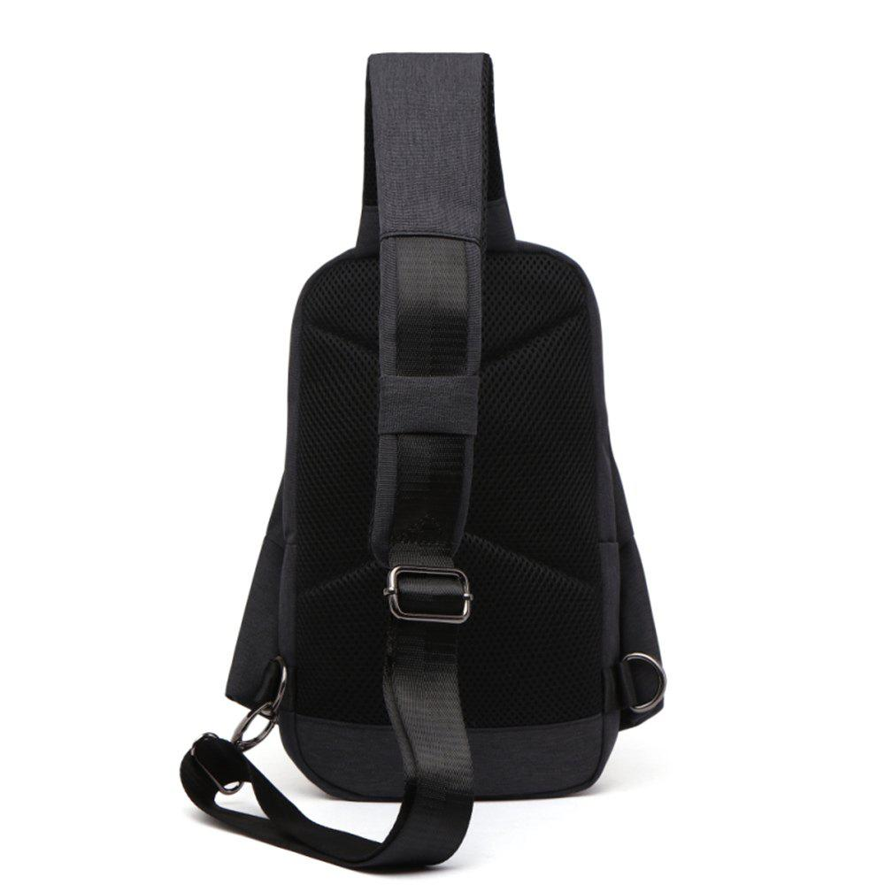 TOCHIC Trendy Water-resistant Sling Bag / 4L / Leisure Sports Style - BLACK