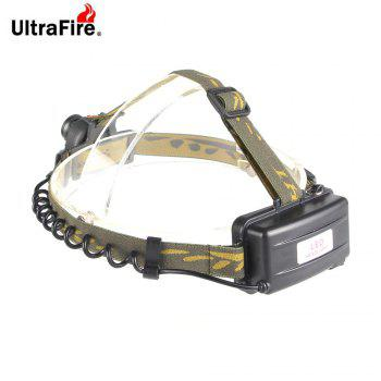 UltraFire Headlights XML - T6 389LM 3 Modes Light Sensor - GREEN