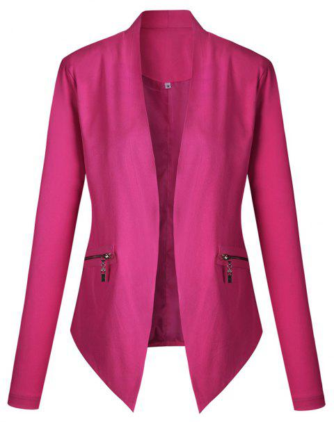 2017 New Autumn and Winter A Stylish Suit Jacket - ROSE RED M