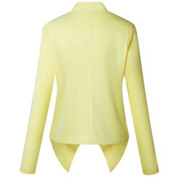 2017 New Autumn and Winter A Stylish Suit Jacket - YELLOW YELLOW