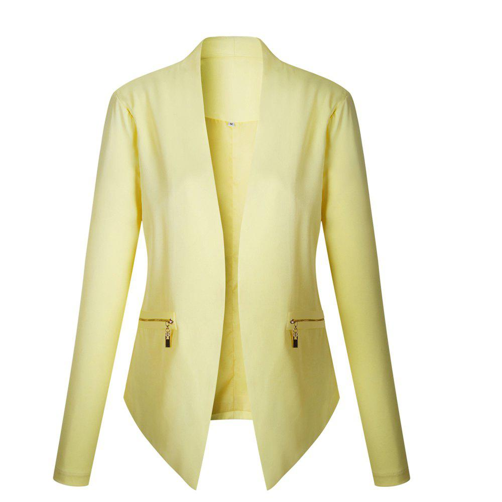 2017 New Autumn and Winter A Stylish Suit Jacket - YELLOW M