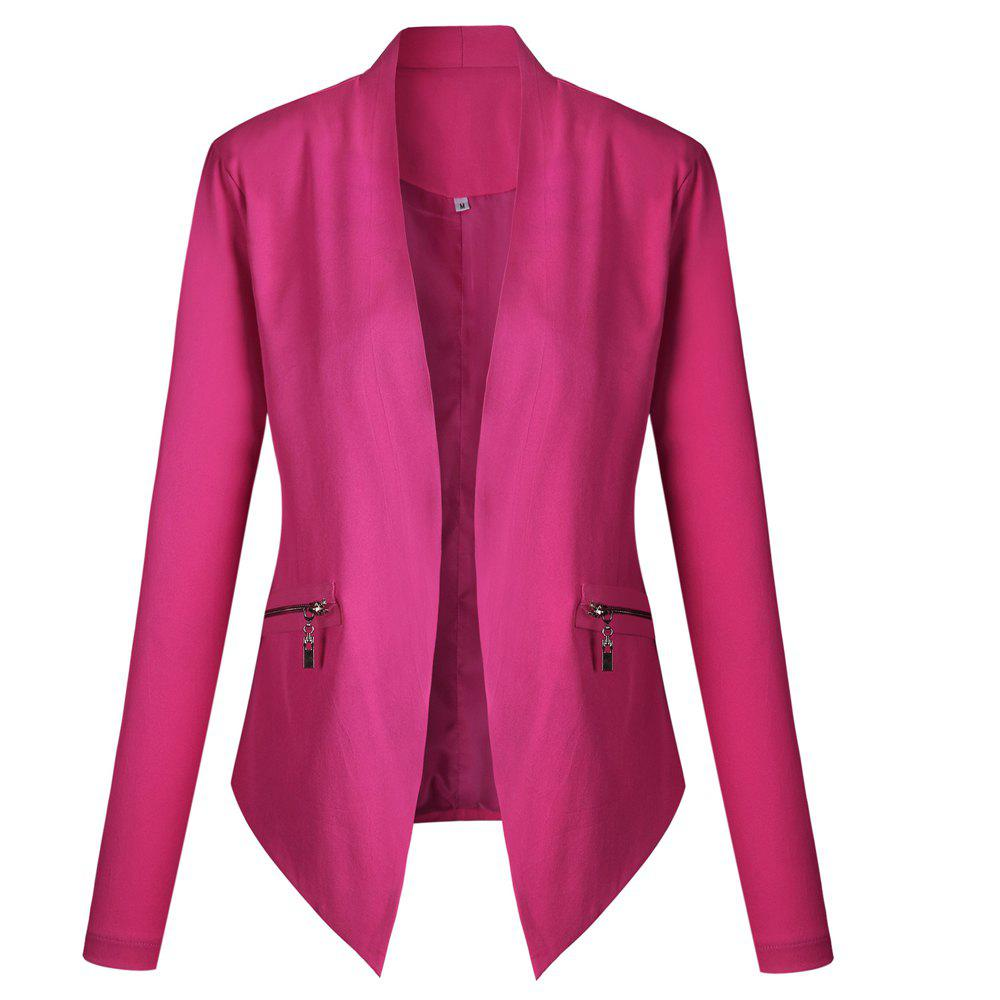 2017 New Autumn and Winter A Stylish Suit Jacket - ROSE RED XL