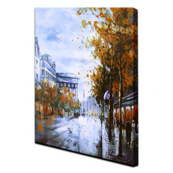 YHHP Impression Street Canvas Wall Print for Home Decoration - COLORMIX COLORMIX