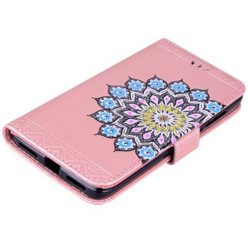 Bling Bling Style Datura Flower Pattern Flip PU Leather Wallet Case for Xiaomi Redmi Note 4 - ROSE GOLD