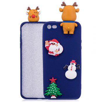 Christmas Tree Santa Claus Reindeer 3D Cartoon Animals Soft Silicone TPU Case for iPhone 5 / 5S / SE