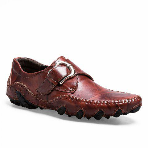Men's Popular Large Size Fashion Fall Business Shoes - DEEP BROWN 40