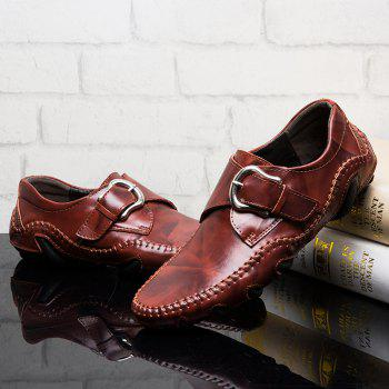 Men's Popular Large Size Fashion Fall Business Shoes - DEEP BROWN DEEP BROWN