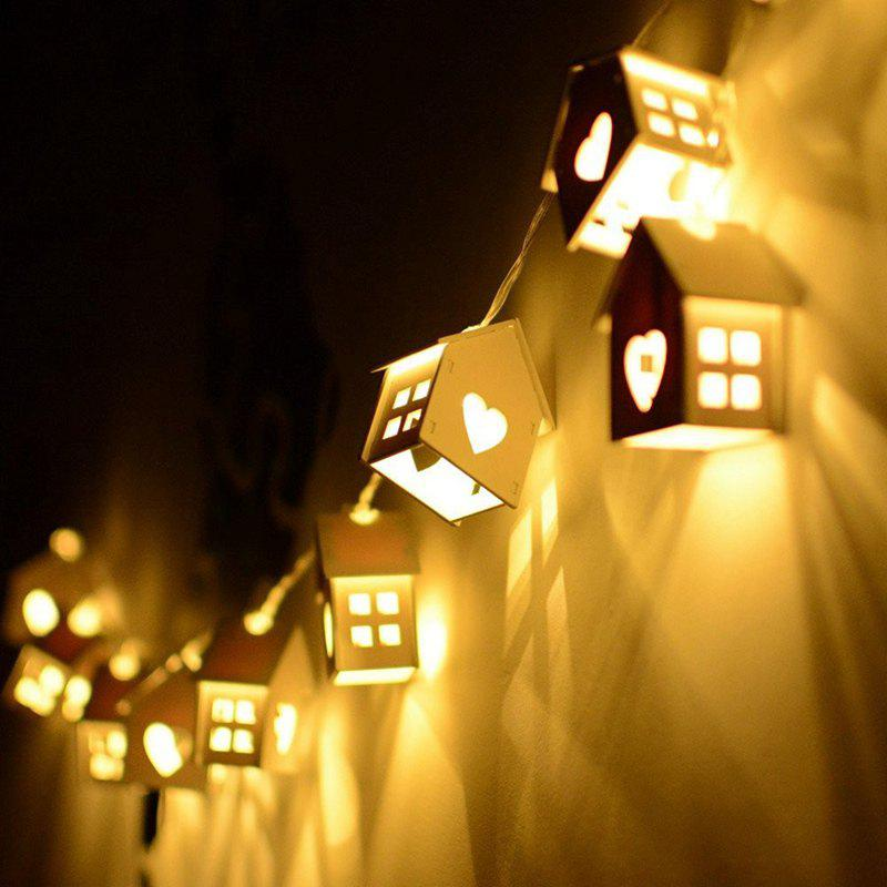 2018 1.5M LED Heart Type Decorative String Light House Shaped Bedroom Night Lamp 10PCS WHITE In ...