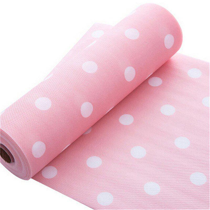 1pc Cabinet Storage Pad Pastoral Style Damp Proof Drawer Shelf Antiskid Mat - DEEP PINK