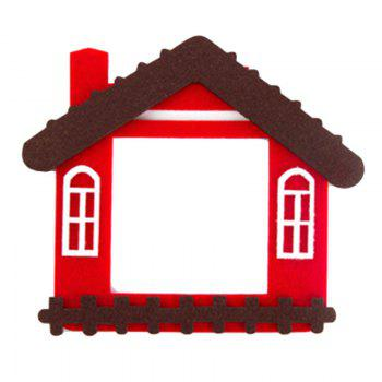 Cartoon Lovely Design Hollow Felt Home Switch Sticker - RED RED