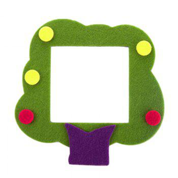 Cartoon Lovely Design Hollow Felt Home Switch Sticker - GREEN GREEN