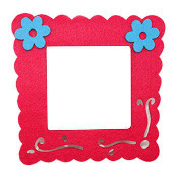 Cartoon Lovely Design Hollow Felt Home Switch Sticker - ROSE RED ROSE RED