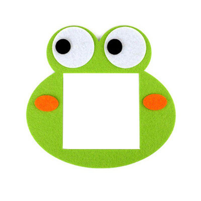 Cartoon Lovely Design Hollow Felt Home Switch Sticker - GREEN FROG