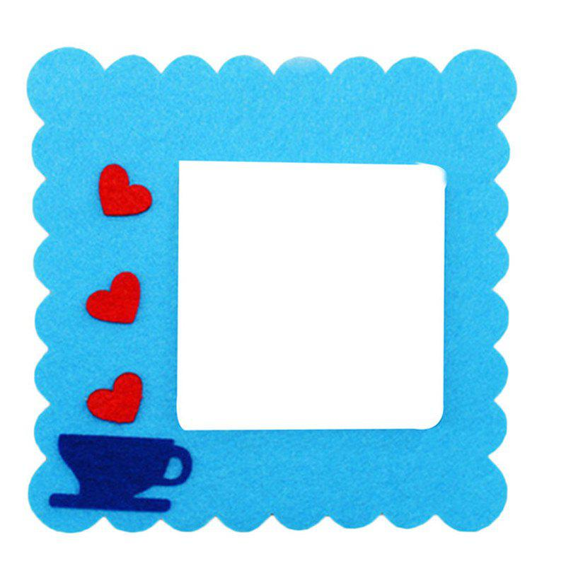 Cartoon Lovely Design Hollow Felt Home Switch Sticker - BLUE
