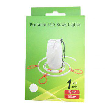True-Shine Portable Outdoor LED Rope Light Strip for Camping DC 5V 1.5M - WARM WHITE