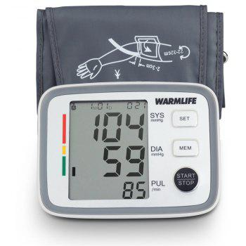 Warmlife Accurate Upper Arm Bp Machine Heart Rate Monitoring Meter with Cuff - WHITE