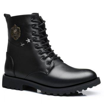 Men Fashion Metal Decoration Martin Boots