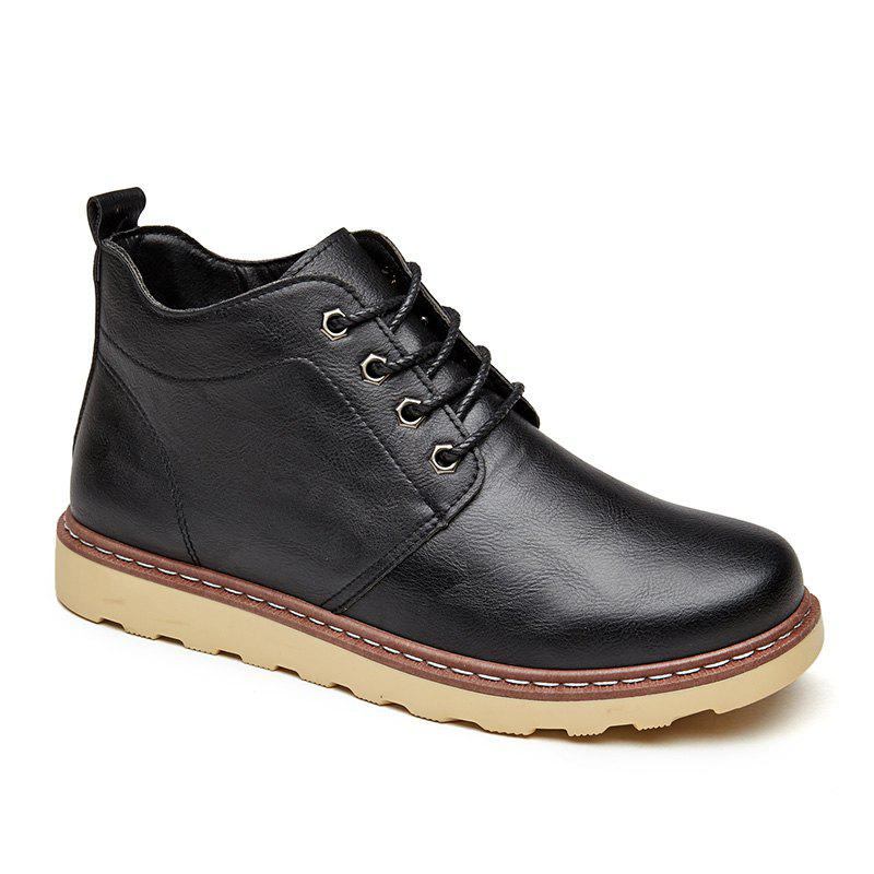 2017 leather work shoes black in casual shoes