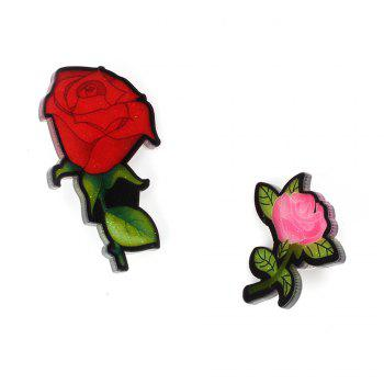 Creative Rose Brooch New Acrylic Plate Personality Brooch Female Accessories - RED RED