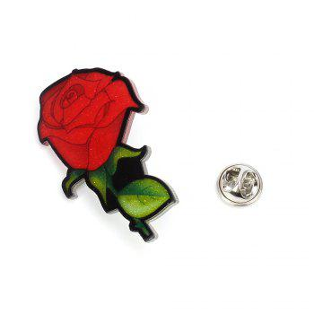 Creative Rose Brooch New Acrylic Plate Personality Brooch Female Accessories - RED 2PCS
