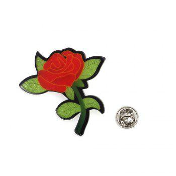 Rose Brooch Creative New Acrylic Plate Badge Flowers Wild Corsage - ROSE MADDER 2PCS