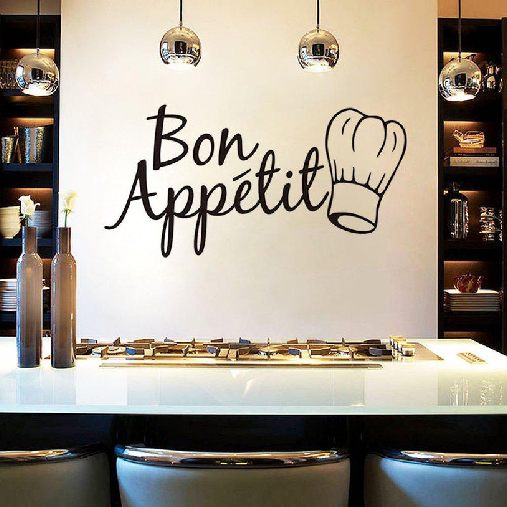 DSU Painted Quote Bon Appetit Decor Wall Sticker dsu details about happy girls wall sticker vinyl decal home room decor quote