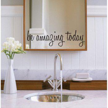 DSU Removable Vinyl Mirror Wall Sticker - BLACK 58X16CM