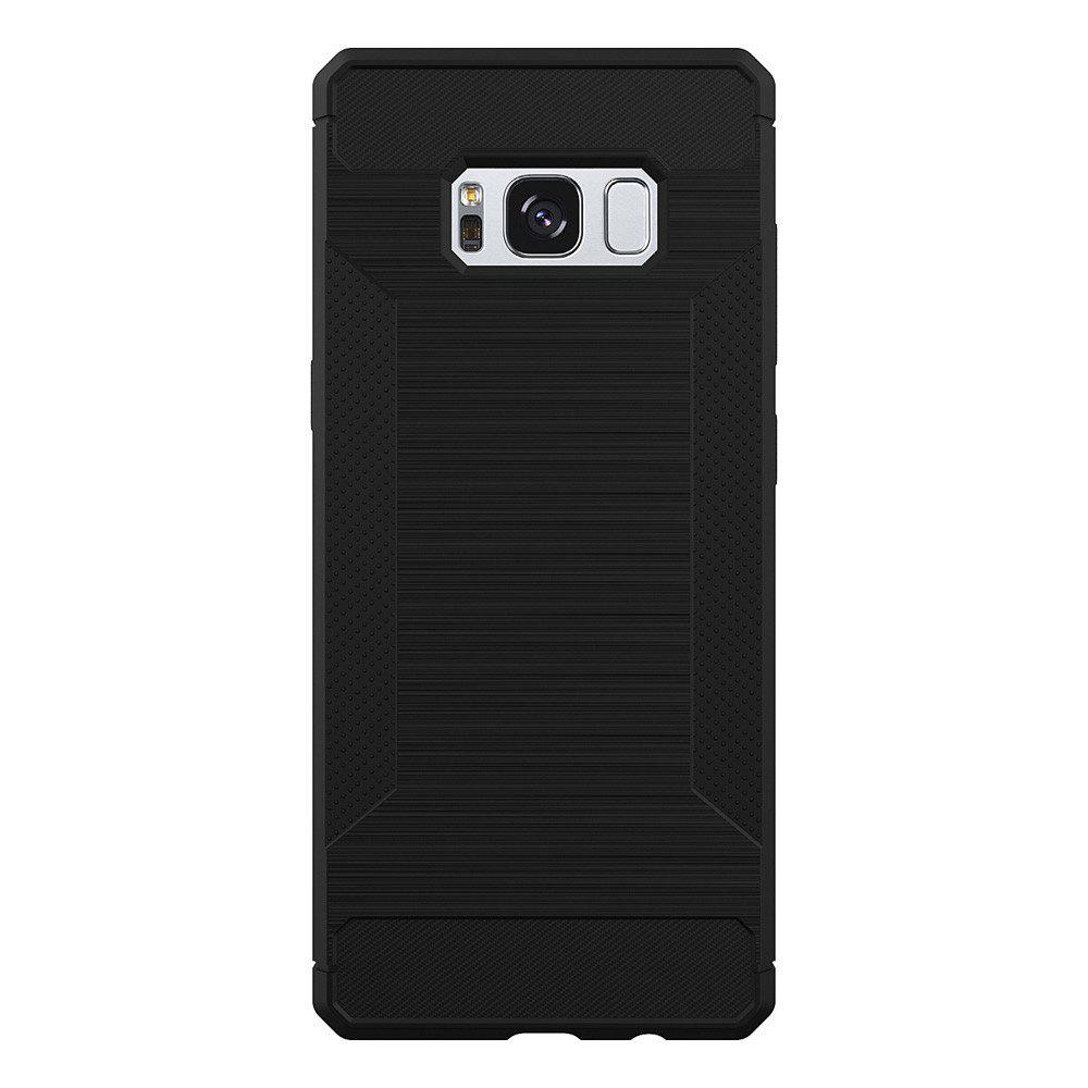 Non-slip Frosted Back Cover Solid Color Soft TPU Case for Samsung Galaxy S8 Plus - BLACK