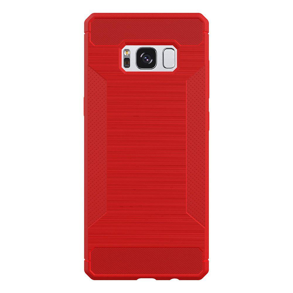 Non-slip Frosted Back Cover Solid Color Soft TPU Case for Samsung Galaxy S8 Plus - RED