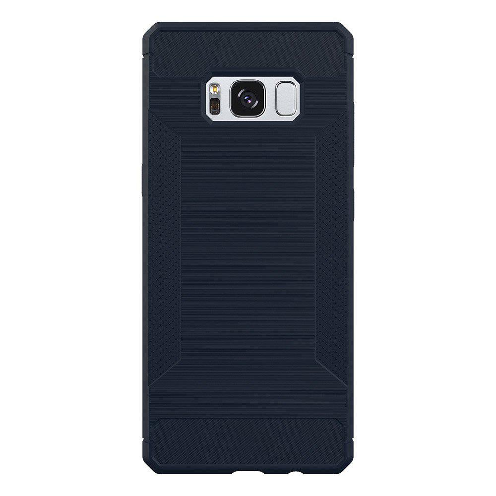 Non-slip Frosted Back Cover Solid Color Soft TPU Case for Samsung Galaxy S8 Plus - DEEP BLUE