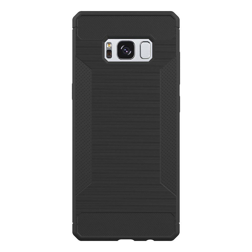 Non-slip Frosted Back Cover Solid Color Soft TPU Case for Samsung Galaxy S8 Plus - DEEP GRAY
