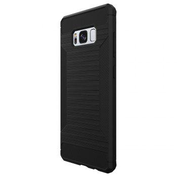 Non-slip Frosted Back Cover Solid Color Soft TPU Case for Samsung Galaxy S8 - BLACK