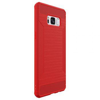 Non-slip Frosted Back Cover Solid Color Soft TPU Case for Samsung Galaxy S8 - RED