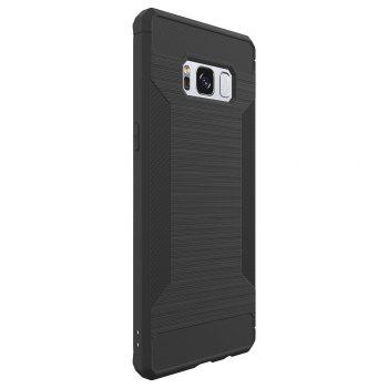 Non-slip Frosted Back Cover Solid Color Soft TPU Case for Samsung Galaxy S8 - DEEP GRAY