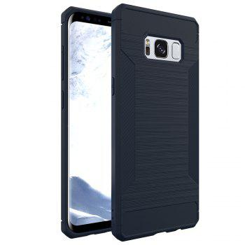 Non-slip Frosted Back Cover Solid Color Soft TPU Case for Samsung Galaxy S8 - DEEP BLUE