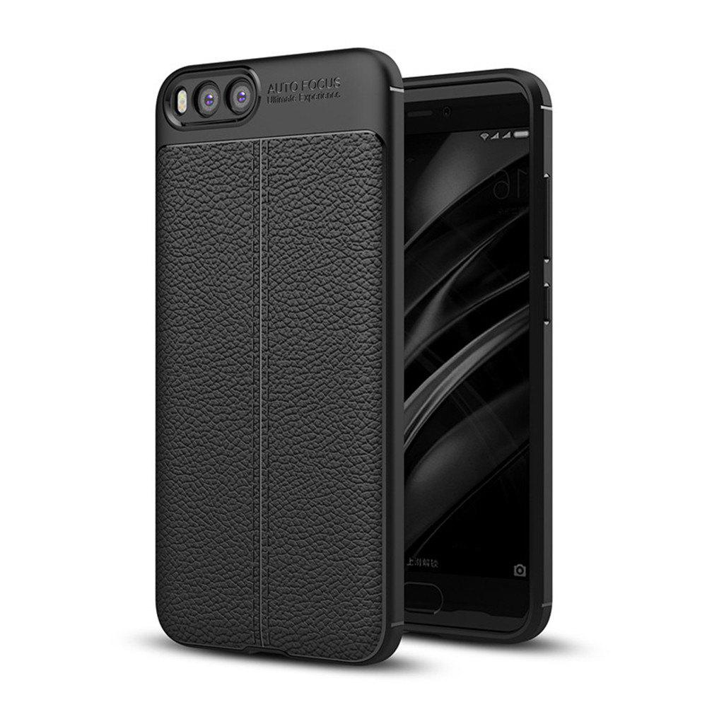 Shockproof Back Cover Solid Color Soft TPU Case for Xiaomi Note 3 - BLACK