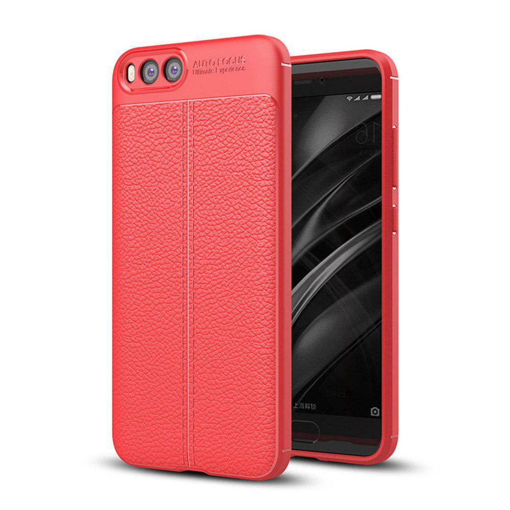 Shockproof Back Cover Solid Color Soft TPU Case for Xiaomi Note 3 - RED