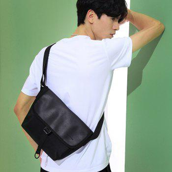 HAUT TON Lightweight Durable Casual Sport Men Messenger Crossbody Bag - BLACK BLACK