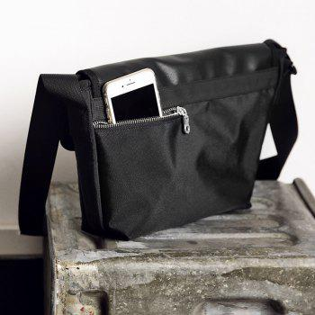 HAUT TON Lightweight Durable Casual Sport Men Messenger Crossbody Bag - BLACK