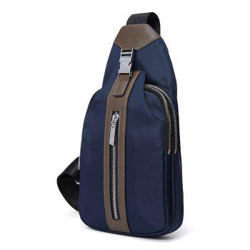 HAUT TON Multifunction Waterproof Canvas Cycling Crossbody Shoulder Bag Chest Pack Running Outdoor Sporting Bags - BLUE BLUE