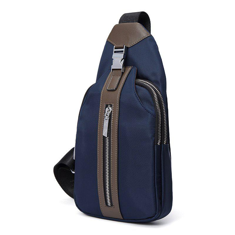 HAUT TON Multifunction Waterproof Canvas Cycling Crossbody Shoulder Bag Chest Pack Running Outdoor Sporting Bags - BLUE