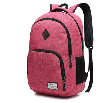 AUGUR Men Women Backpacks USB Charging Male Casual Travel Teenager Student School Notebook Laptop Bag - ROSE RED