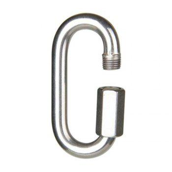 Solid Fine Steel Oval Lock Rock Climbing Carabiner Safety Bearing - SILVER SIZE : 9 X 4.2 X 1 CM
