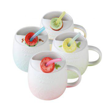 475ML Summer Fruit Ceramic Cup - PINK
