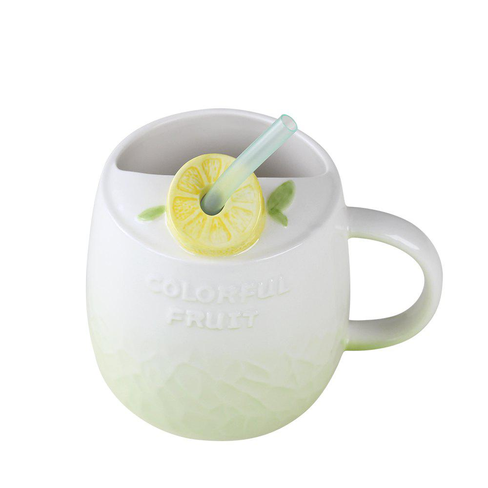 475ML Summer Fruit Ceramic Cup - GREEN