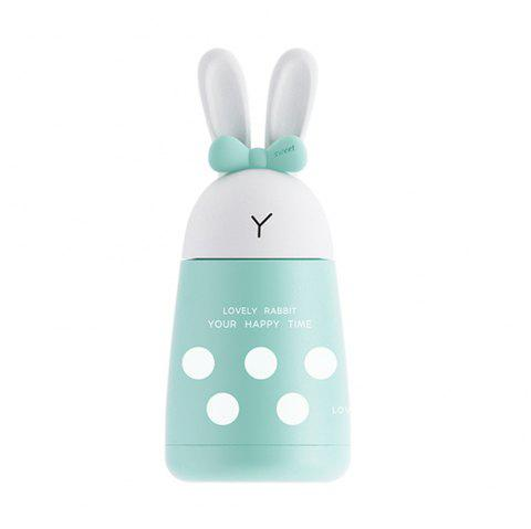 400ML Cute Cartoon Rabbit Stainless Steel Thermos - GREEN