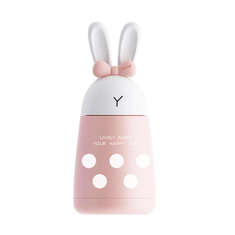 400ML Cute Cartoon Rabbit Stainless Steel Thermos - PINK