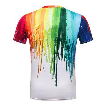 White Printed Men's T-Shirt - WHITE M