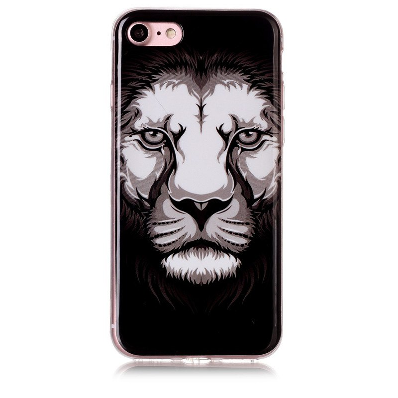 Lion Pattern Soft TPU Antiscratch Back Cover Case for iPhone7/iphone8 - multicolorCOLOR