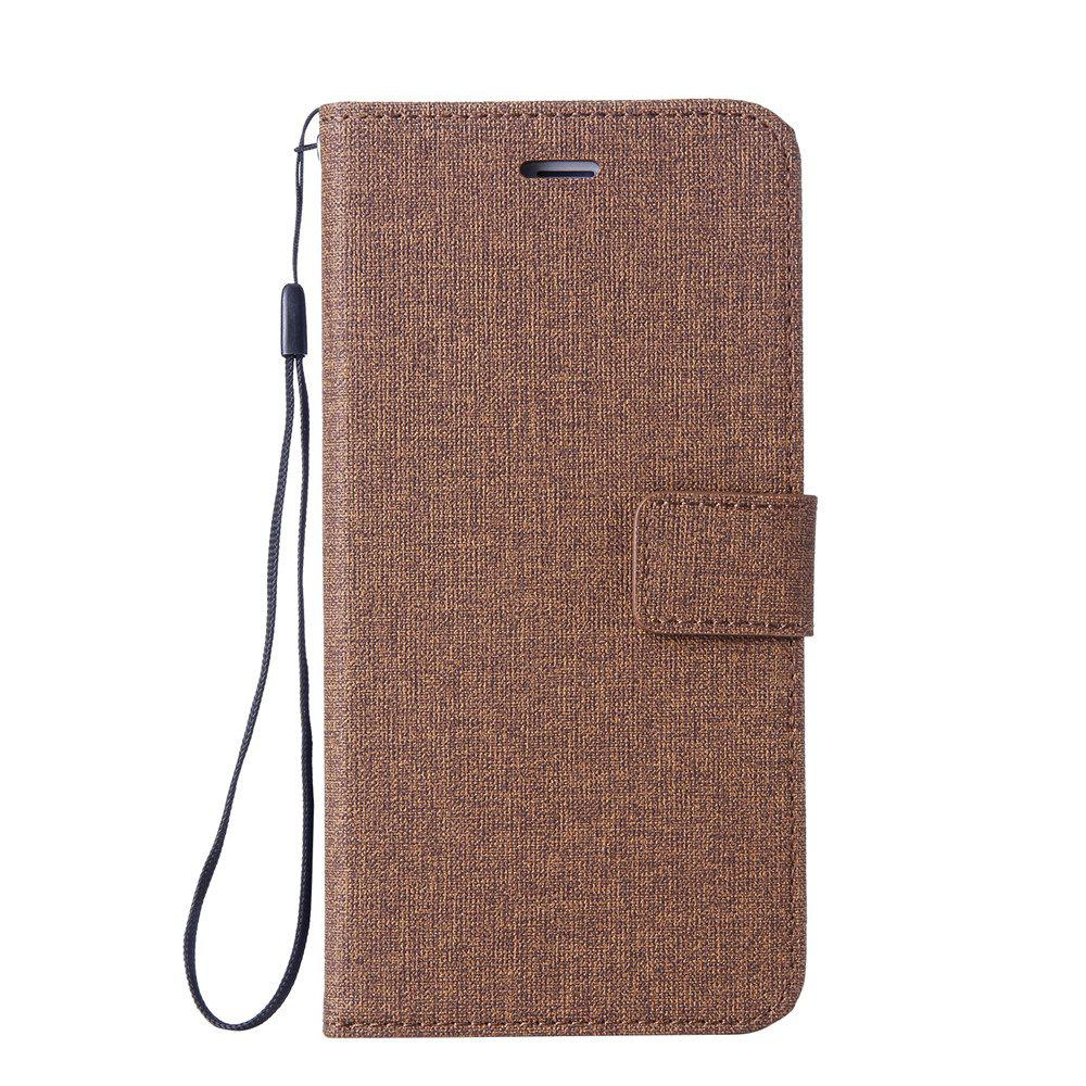 Protective Cover for Cotton Fabric Mobile Phone iPhone X - BROWN
